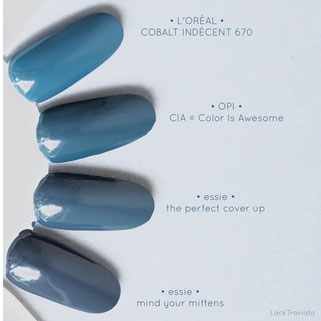 Vergleich / comparison swatch OPI • CIA = Color is Awesome • Washington D.C. Collection fall 2016