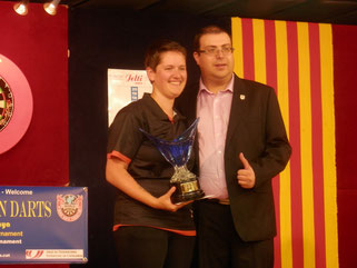 Sharon Prins (NED) Campeona del 4º Catalonia Open Darts