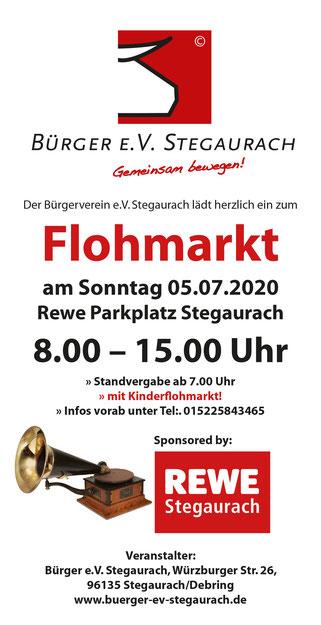 Flohmarkt Stegaurach Reweparkplatz Debring Sonntag 5. Juli 2020