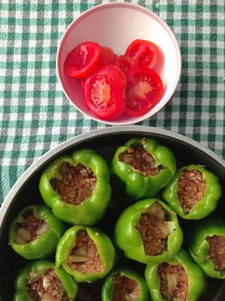 gefüllte Paprika Rezept mit Hackfleisch