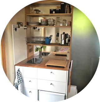 Dusche und WC im Tiny House