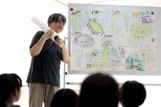 アートキャンプでのアニメ制作風景