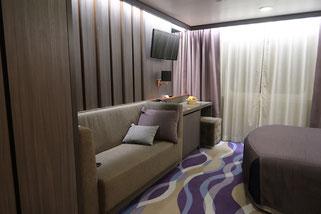 De Luxe Kabine auf der Tallink Victoria I