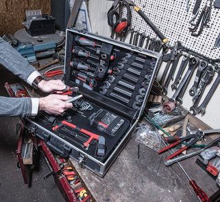 Der beste Werkzeugkoffer ist im Handwerk gefragt