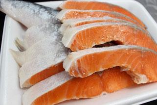 銀鮭切り身皿