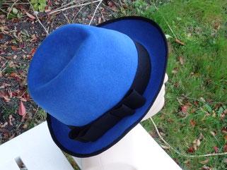 Borsalino en feutre bleu