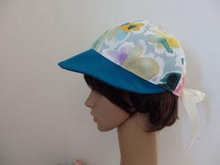 casquette bleu tissu aquarelle