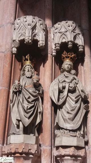 Salzburg, Stift Nonnberg, Kaiser Heinrich II. und Maria mit dem Jesuskind