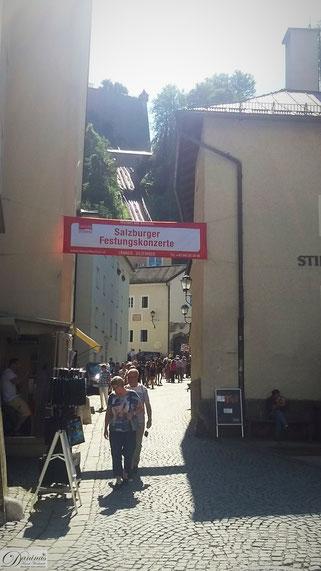 Salzurg Kapitelplatz - Weg zur Festung & Festungsbahn