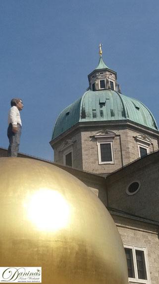 Salzburger Dom Kuppel - Sicht vom Kapitelplatz