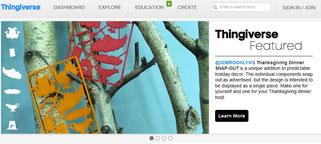 Thingiverse Startseite