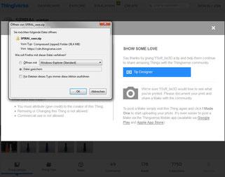 Thingiverse Objektdatei Datei runterladen download