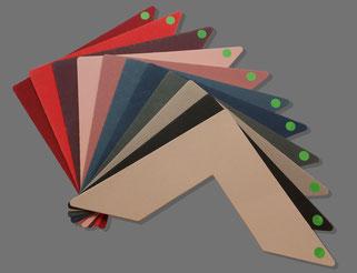 farbige Standardpassepartouts (Auswahl)