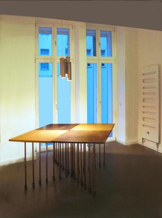 Tavolo MILLEPIEDI reclaimed, reuse, new design