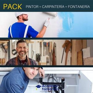 CURSOS DE PINTOR, CARPINTERÍA Y FONTANERÍA
