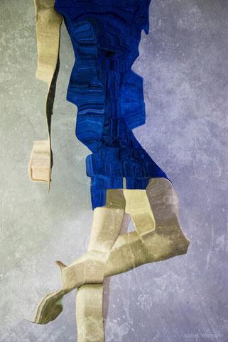 das blaue Kleid (mixed media)