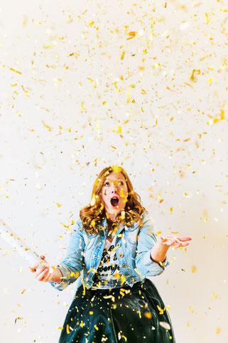 Bild: Bloggerin Stephanie Vennemann (geb. Kohls) zeigt auf www.partystories.de viele DIY Ideen für Partydeko, Geschenke und Rezepte für Partyfood und Drinks