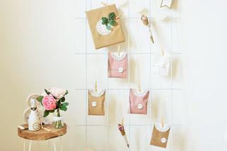 Bild: DIY Ideen für die Hochzeit, Deko für die Hochzeit basteln, Hochzeitstrends, Geschenk Ideen zur Hochzeit - jetzt auf www.partystories.de entdecken // DIY Countdown Kalender für die zukünftige Braut