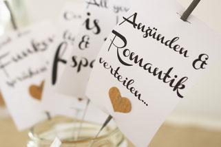 Bild: Gratis Vorlage zum Basteln, Freebie für Wunderkerzen zum Verschenken oder die Hochzeit