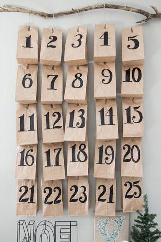 Bild: DIY Adventskalender - stylische und moderne Adventskalender zum selber machen, gefunden auf Partystories.de