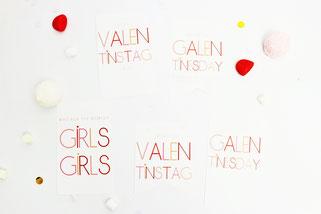 Bild: Valentinstag Geschenk Idee zum selber basteln: DIY Geschenkanhänger als Freebie kostenlose Bastelvorlage zum ausdrucken und verschenken am Valentinstag