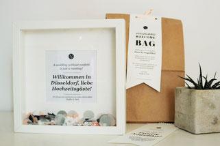 Bild: DIY Geschenk Idee für Hotelgäste einer Hochzeit, Gastgeschenke für Hochzeit selber basteln Ideen