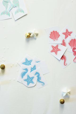 Bild: DIY Adventskalender für Kinder im Meerjungfrauen und Unter Wasser Stil basteln, Anleitung und Ideen zum Befüllen vom DIY Deko & Partystyling Blog Partystories.de // #Adventskalender #DIYadventskalender #Meerjungfrauen #Mermaid #unterWasser #basteln