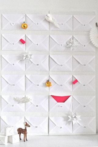 Bild: DIY Adventskalender - stylische und moderne Adventskalender zum selber machen, eine Übersicht von Partystories.de