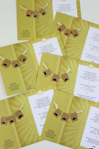 Bild: Mit diesen Ideen eine Schnurrbart-/Moustache Mottoparty zum Geburtstag für den Mann und Erwachsene feiern – Einladungskarten zum Geburtstag von Kaartje2go aufpeppen // Partystories.de // #Moustacheparty #Mottoparty #Geburtstag