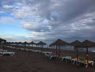 Der Strand des Hotl Melia Costa del Sol