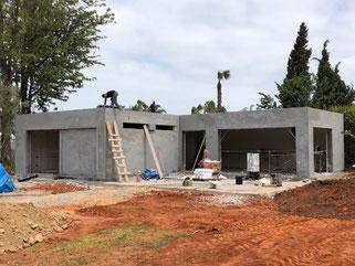 construction avec isolation villa