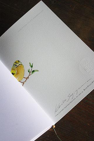 オリジナルのノートにサインをいただいちゃいました