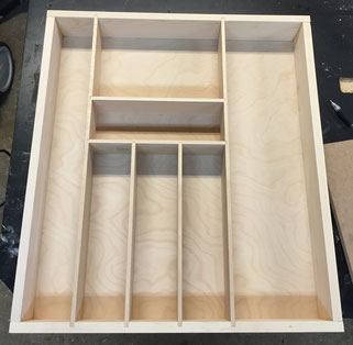 maple utensil drawer insert