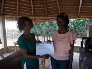 Burkinische Lehrerinnen zum Abschluss des Workshops