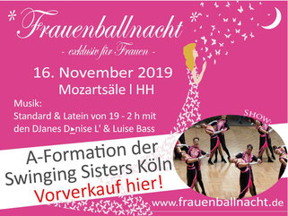 Flyer vorn 3. Hamburger Frauenballnacht25.11.17