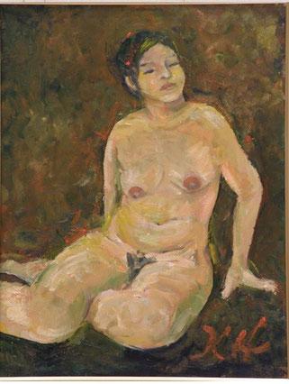 裸婦 油彩 10号