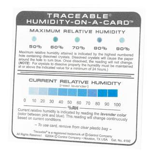 Higrómetro de tarjeta CC-4192