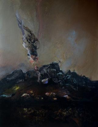 """""""Pondaisons"""" Acrylique sur toile Dim: 116cmx89cm"""