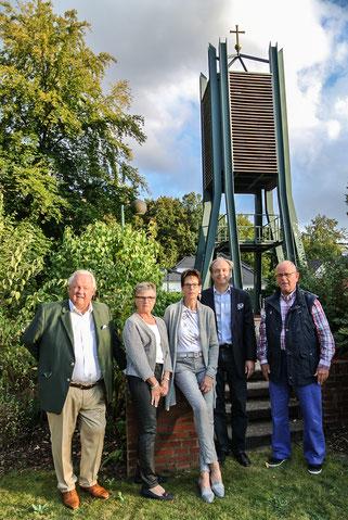 von links: Wolfgang Rabe, Ruth Möller, Ulrike Gärtner, Joachim Dallwig, Jürgen Hau-Schiebener.
