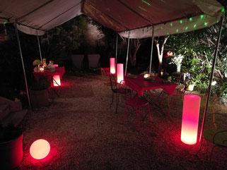 location colonne lumineuse led soirée anniversaire