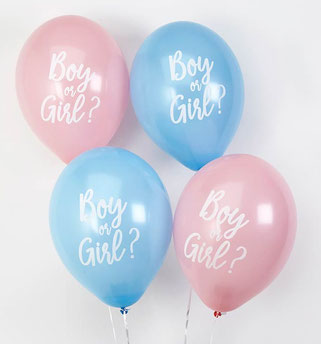 ballons boy or girl deco baby shower annonce surprise fille ou garçon - gender reveal balloons