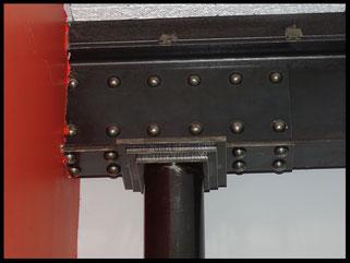 """Poteaux et poutre métalliques style """"indus""""personnalisés et sur mesure"""