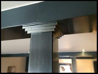 Poteaux métalliques sur mesure