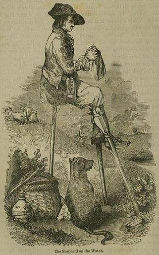 1855, strickender Schäfer
