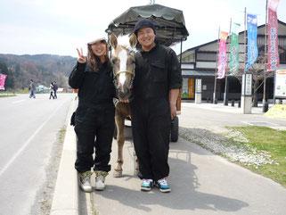 「黒石温泉郷観光馬車」運行開始当初