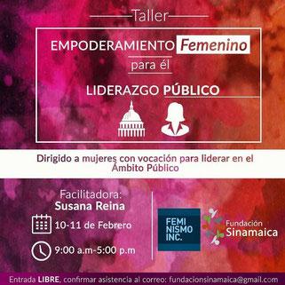 Taller Empoderamiento Femenino para el Liderazgo Público - Fundación Sinamaica