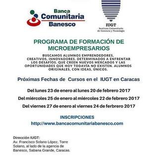 Programa de Formación de Microempresarios - Banesco