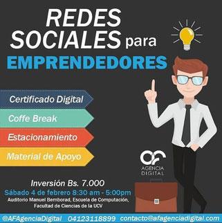 Taller Redes Sociales para Emprendedores - AF Agencia Digital