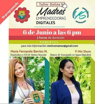 Taller Online Madres Emprendedoras Digitales - Motiva Mamás