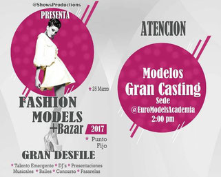 Fashion Models + Bazar 2017